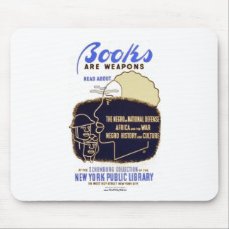 """""""Books Are Weapons"""" Mouse Pad"""