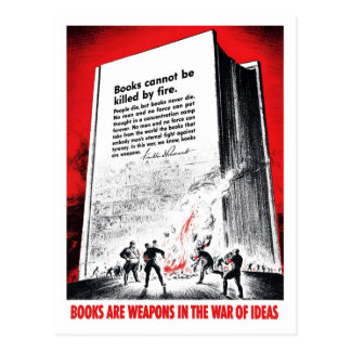 """Books Are Weapons"" Postcard"