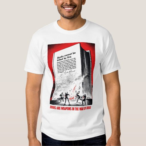"""""""Books Are Weapons"""" Tee Shirt"""
