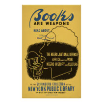 Books Are Weapons Vintage WPA Poster
