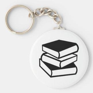 Books Basic Round Button Keychain