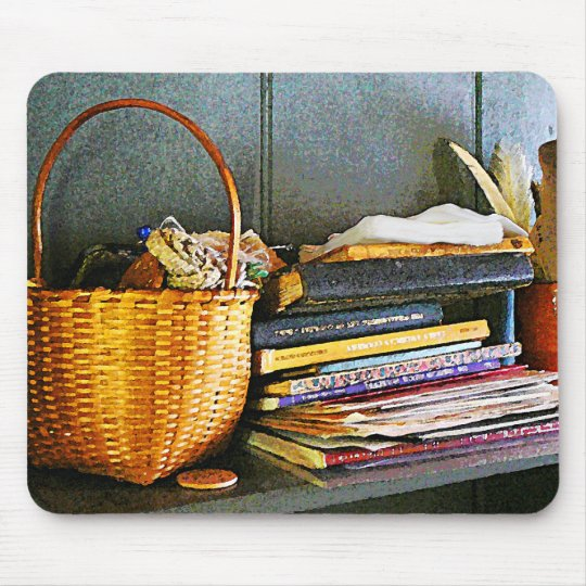 Books, Basket and Quill Mouse Pad
