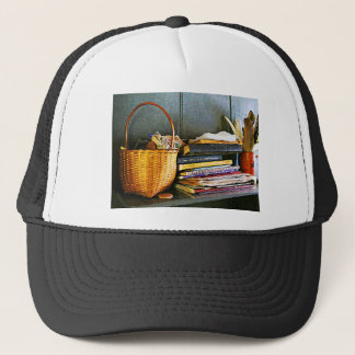 Books, Basket and Quill Trucker Hat