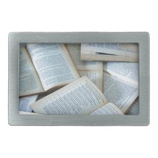 Books Rectangular Belt Buckle