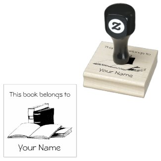 Books BookPlate Design Wooden Stamp