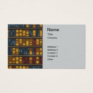 Books, Books, Books - Bookshelf Pattern Business Card