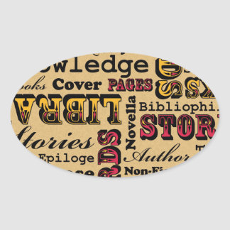 Books Books Books! Oval Sticker