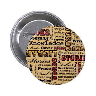 Books Books Books! Pinback Button