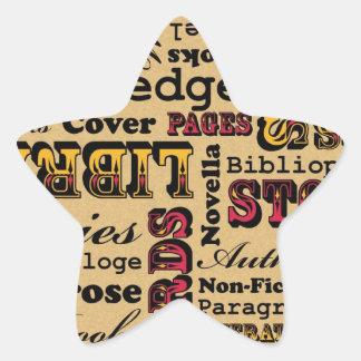 Books Books Books! Star Sticker