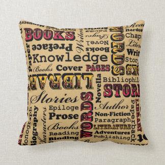 Books Books Books! Throw Pillow