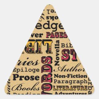 Books Books Books! Triangle Sticker