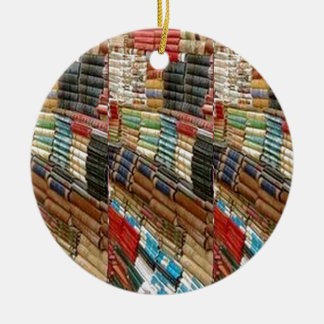 BOOKS Bookworm Library Read Learn Bookshelf GIFTS Double-Sided Ceramic Round Christmas Ornament