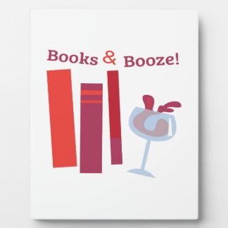 Books & Booze! Display Plaque