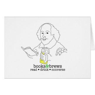 Books & Brews Logo Greeting Card