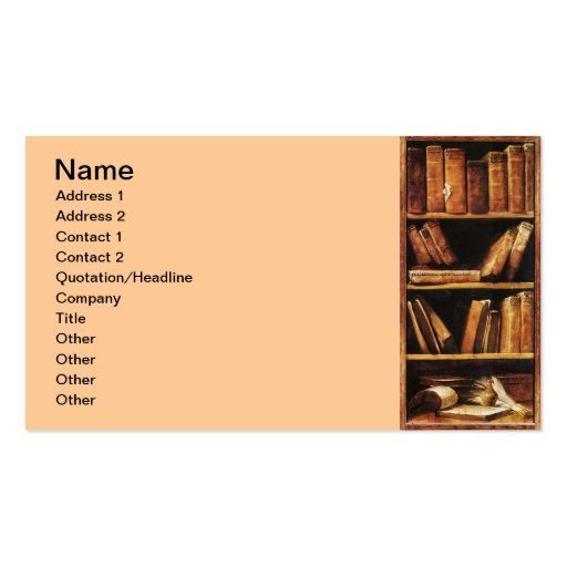 Books Business Card Template
