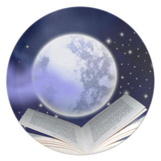 Books Can Hold The Moon Dinner Plate