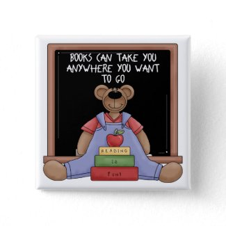 Books Can Take You Anywhere Button button