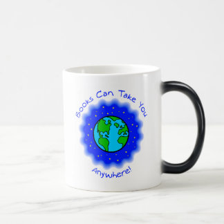 Books Can Take You Morphing Mug, 2 colors Magic Mug