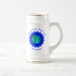 Books Can Take You  Steins, 2 styles 18 Oz Beer Stein