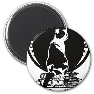 Books, cats, life is sweet Kopie_vectorized 2 Inch Round Magnet
