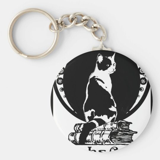 Books, cats, life is sweet Kopie_vectorized Keychain