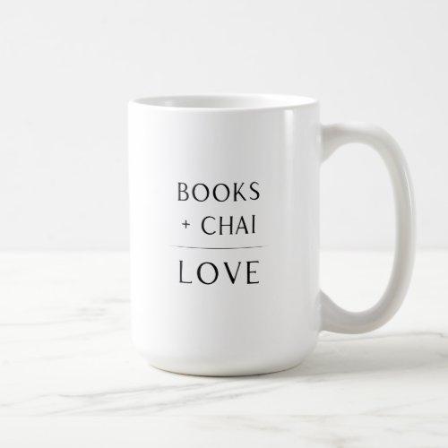 Books  Chai  Love Mug