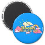 Books Check Em Out Magnet