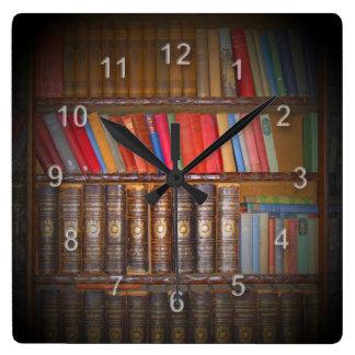 Books Square Wallclock