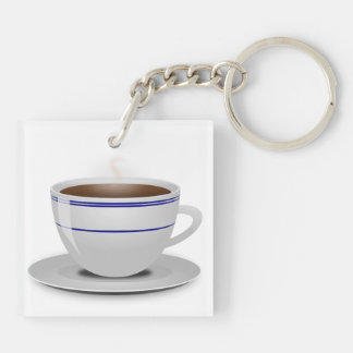 Books & Coffee: Need I Say More? Keychain