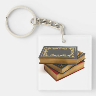 Books & Coffee: Need I Say More? Keychain