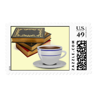Books & Coffee: Need I Say More? Postage Stamp