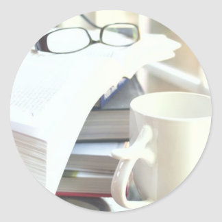 Books & Coffee: Need I Say More? Round Sticker