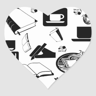 Books & Coffee: Need I Say More? Heart Sticker