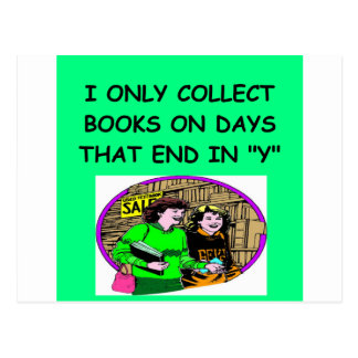 BOOKS collector Postcard