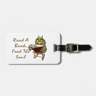 Books Feed The Soul Wise Owl Luggage Tag