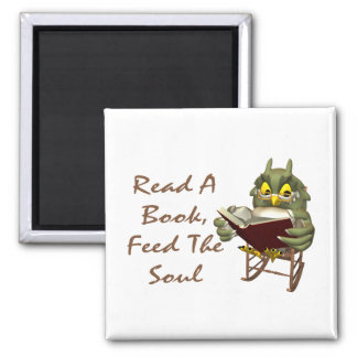 Books Feed The Soul Wise Owl Magnet