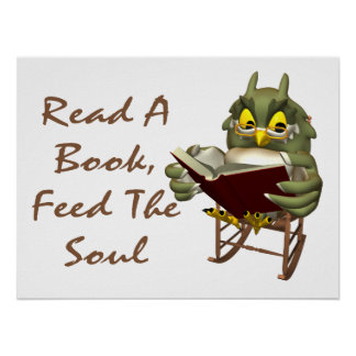 Books Feed The Soul Wise Owl Poster