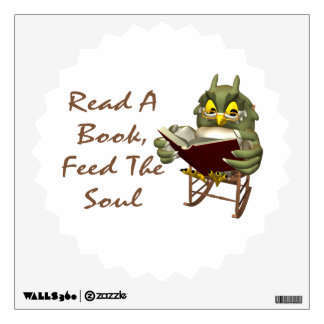 Books Feed The Soul Wise Owl Wall Sticker