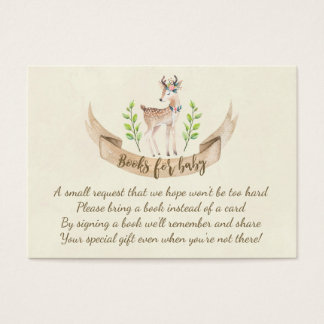 books for baby book request card cute deer