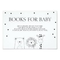 Books for baby Bring a book Black white Animals Invitation