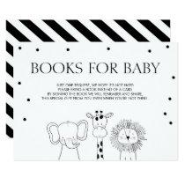 Books for baby Bring a book Safari Animals Jungle Invitation