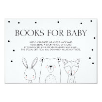 Books for baby Bring a book Woodland Animals Fox Invitation