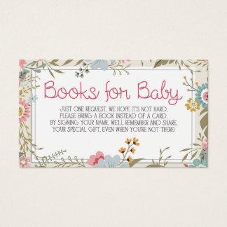 Books for Baby Card Insert Baby Shower