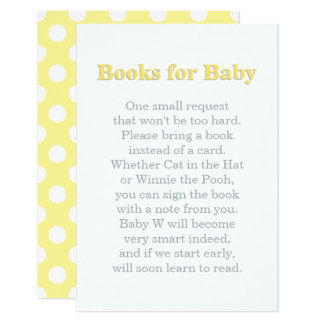Books for Baby Card | Yellow and Gray