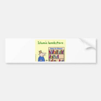 books for dhimmis islamic bookstore car bumper sticker