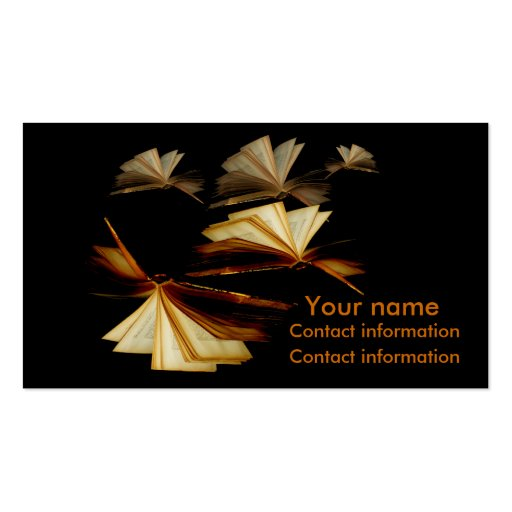 Books give you wings business card