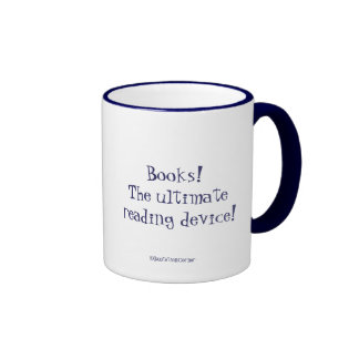 Books Humor-Stack of Books with quote Ringer Coffee Mug