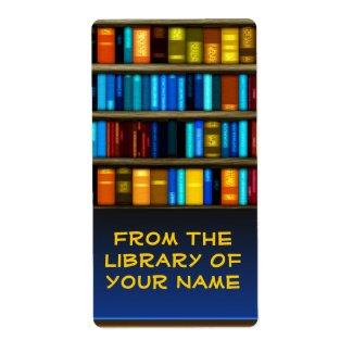 Books In Shelf Bookplate Sticker Labels label
