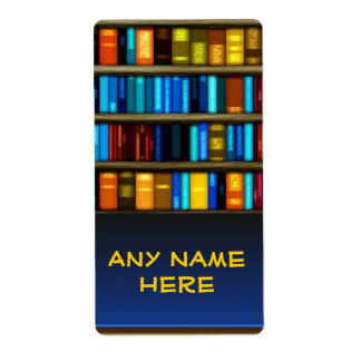 Books In Shelf Bookplate Sticker Labels