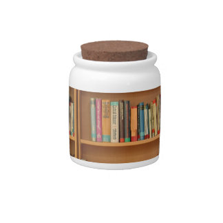 Books in the bookshelf candy dish